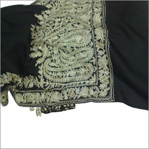Wool Aari Embroidered Shawl