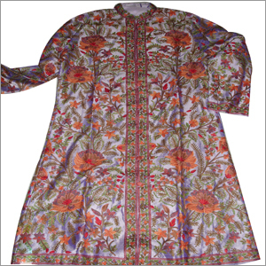 Aari Embroidery Silk Kurta