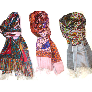 Screen Print Wool Silk Stoles