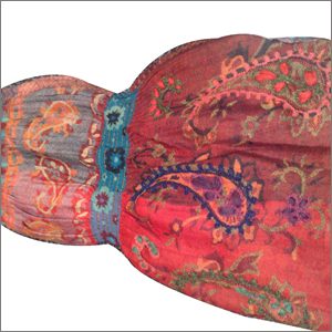 Wool Boiled Lycra Ari Embroidery Shawls