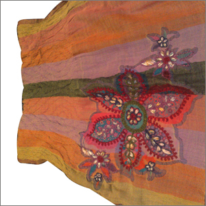 Wool Boiled Embroidered Shawls