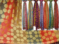 50% Silk, 50% Viscose (Golden Coins) (70x200cm)