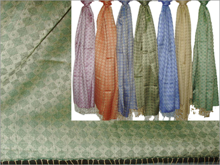 50% Silk, 50% Wool (Diamond Stripes) (70x200cm)
