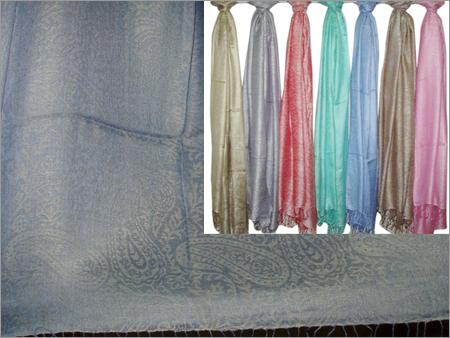 70% Silk, 30% Viscose (Jacquard Plain Paisley)