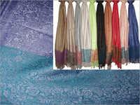 50% Silk, 50% Viscose (Zari Palla) (70x200cm)