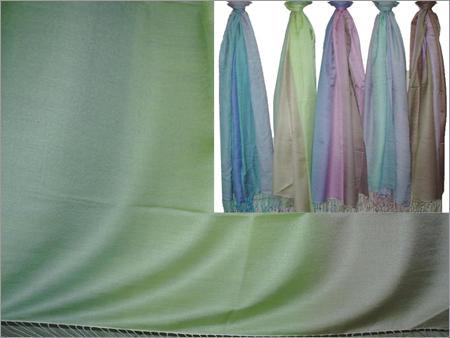80% Pashmina & 20% Golden Silk Rainbow Dye Stole