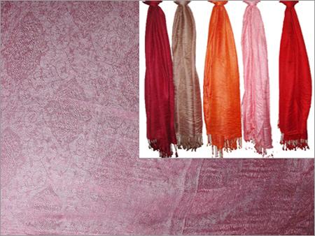 100% Silk with Jacquard (70x200cm)