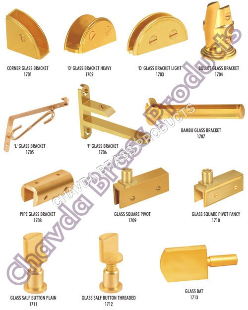 Brass Glass Brackets