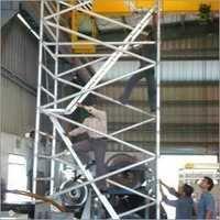 Aluminium Scaffolding With Ladder