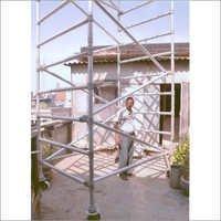 Aluminium Scaffoldings On Four Breakable Wheels