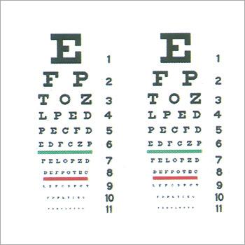 Eye Testing Chart Eye Testing Chart Exporter Manufacturer
