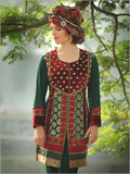 Embroidered Crepe Salwar Suits
