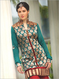 Border Work Churidar Suits