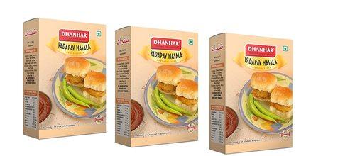 Dhanhar Mumbai Vada Pav Masala Powder Spicy & Tasty Mix | Hygienically Packed | No Preservatives | 100 Gram (Pack of 3)