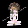 White Marble Mahaveer Idol
