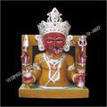 Marble Nakoda Bhairav Sculpture
