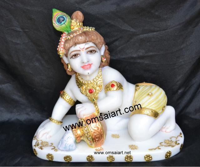 Marble Child Krishna Statue