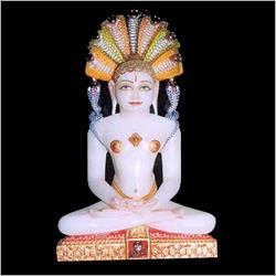 Marble Mahavir Swami Statue