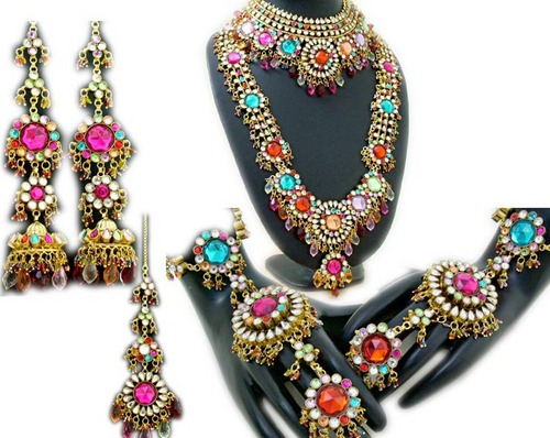 ARTIFICIAL HEAVY KUNDAN JEWELLERY SET