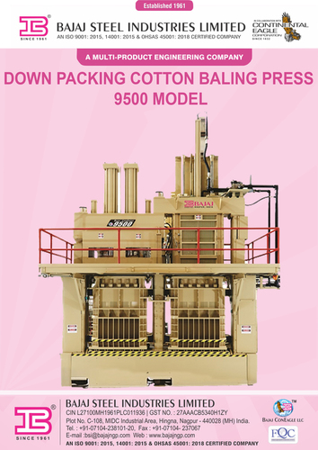 Cotton Baling Press