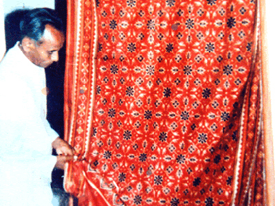Red Chhabadibhat Design Sarees