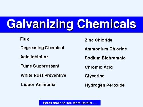 Galvanizing Chemicals - Galvanizing Chemicals Supplier, Trading