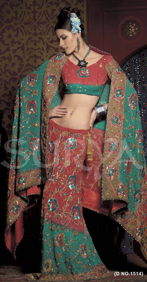Party Wear Georgette Lehenga