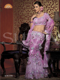 Party Wear Net Lehenga