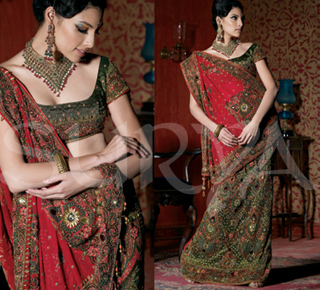 Embroidery Wedding Saree