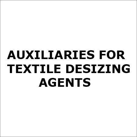 Auxiliaries For Textile Desizing Agents