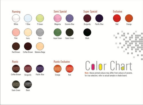 Ceramic Color Chart