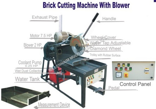 Brick Cutting Machine With Blower