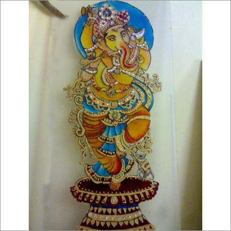 Ganesha Glass Painting