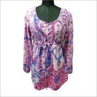 100% Cotton P/L Woven Ladies Print Blouse