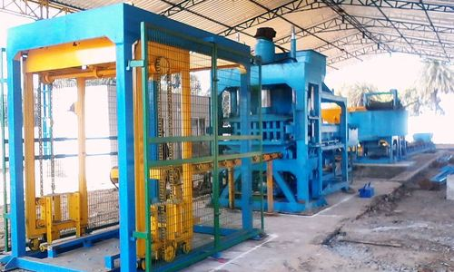 Fully Automatic Concrete Brick Plant