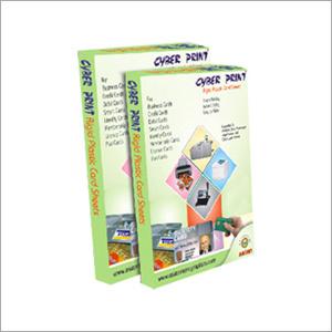 Cyber Print  Rigid Plastic Card Sheet