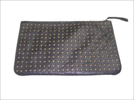 Stud Leather Hand Bag
