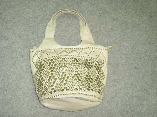 Studded Leather Handbag