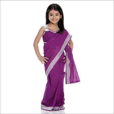 Girls Stiched Sarees