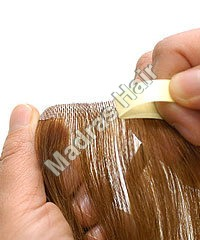 Skin Wefted Hair Extensions