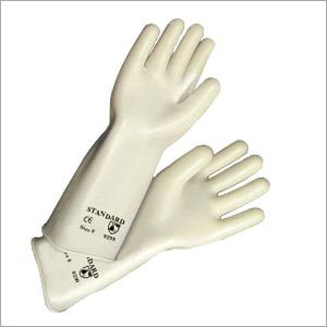 White Natural Rubber Gloves