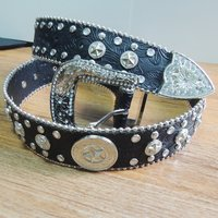 40MM Leather Belt with Rivets for Decoration  (#005)