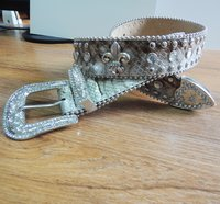 40MM Leather Belt with Rivet Ornament (#002)