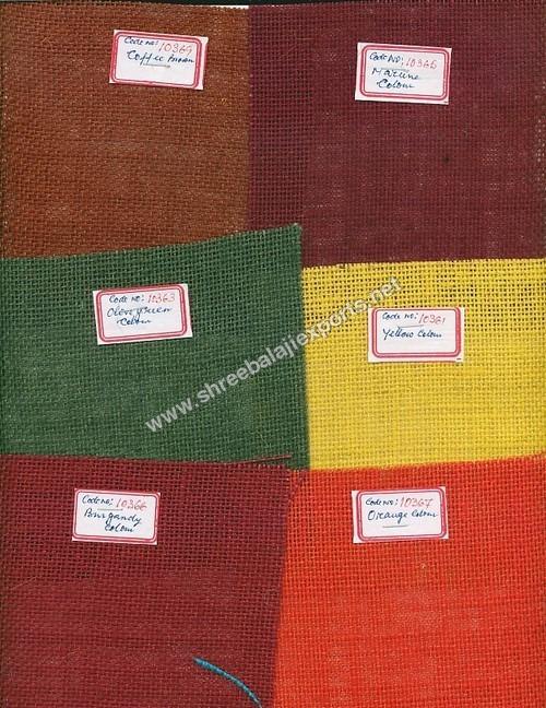 Coloured Hessian Cloth