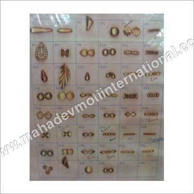 Dull Gold Plastic Beads