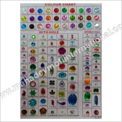 Plastic Colored Stones