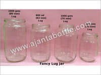 Plain Glass Lug Jar