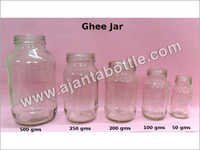 Plain Glass Ghee Jars