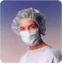 Hospital head cap with face mask