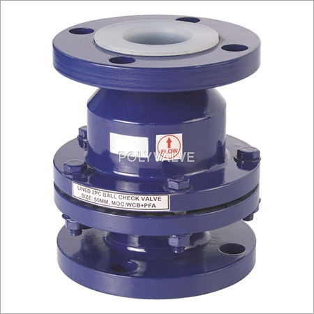 Pvdf lined Ball Check Valves
